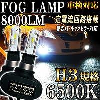 インテグラ セダン H1.5~H5.6 DA7・8、DB1 LED フォグランプ H3 ファンレス 6500k ホワイト 車検対応