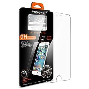 【Spigen】 iPhone6s ガラス フィルム / iPhone6 ガラス フィルム GLAS.tR SLIM [ 液晶保護 9H硬度 Rラウンド 加工 ] アイフォン6s / 6 用 (Glas.t R SLIM SGP11588)