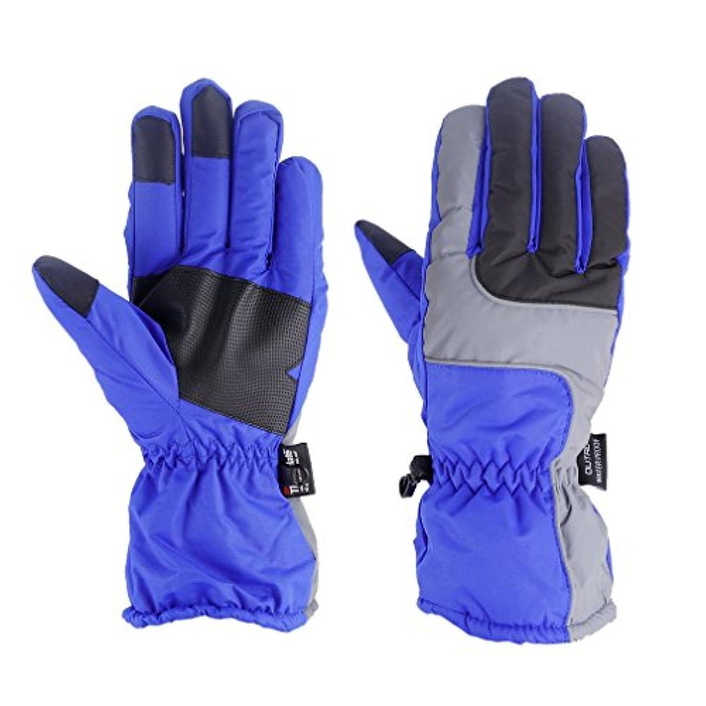 スキーグローブ 登山 手袋 アウトドア冬アウトドアソフト弾性通気性防風&防水雪スキーグローブウォームマウンテンクライミンググローブ男性用