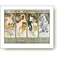 アートポスター アルフォンス・ミュシャ 四季 Alphonse Mucha: Les Saisons