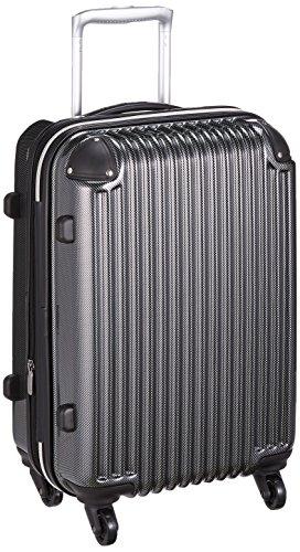 [シフレ] スーツケース ハードジッパーケース シフレ 1年保証 機内持込可 保証付 39L 50cm 2.9kg AMC201-50 カーボンブラック カーボンブラック