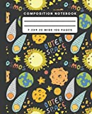 Composition Notebook: Comet Planet Space Composition Notebook Wide Ruled Journal For Writing Outer Space Blank Lined Workbook for Students For School Homework