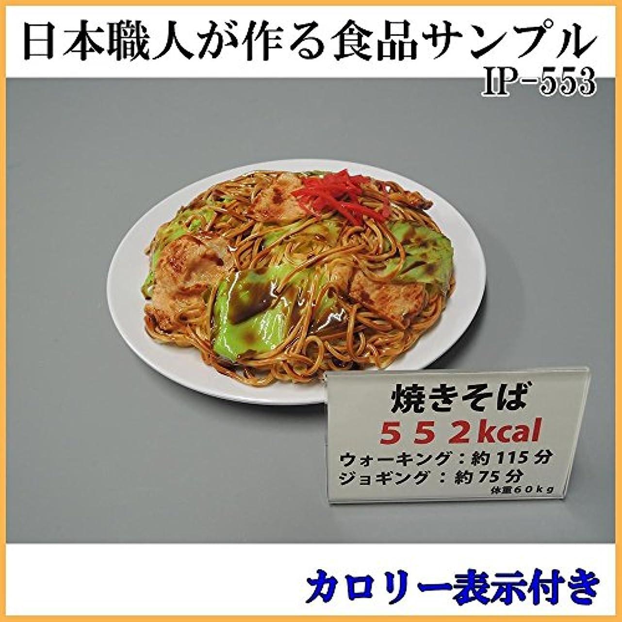 冷凍庫急勾配のスポーツ日本職人が作る 食品サンプル カロリー表示付き 焼きそば IP-553