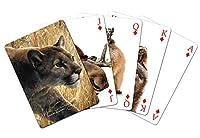 Tree-Free Greetings Standard Playing Card Deck Mountain Lion Themed Wildlife Art (49909) [並行輸入品]