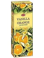 ヘムバニラオレンジ120本お香スティック