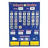 ラーニングリソーシズ 壁掛け ポケットチャート 英語 カレンダー&天気 LER2418 正規品