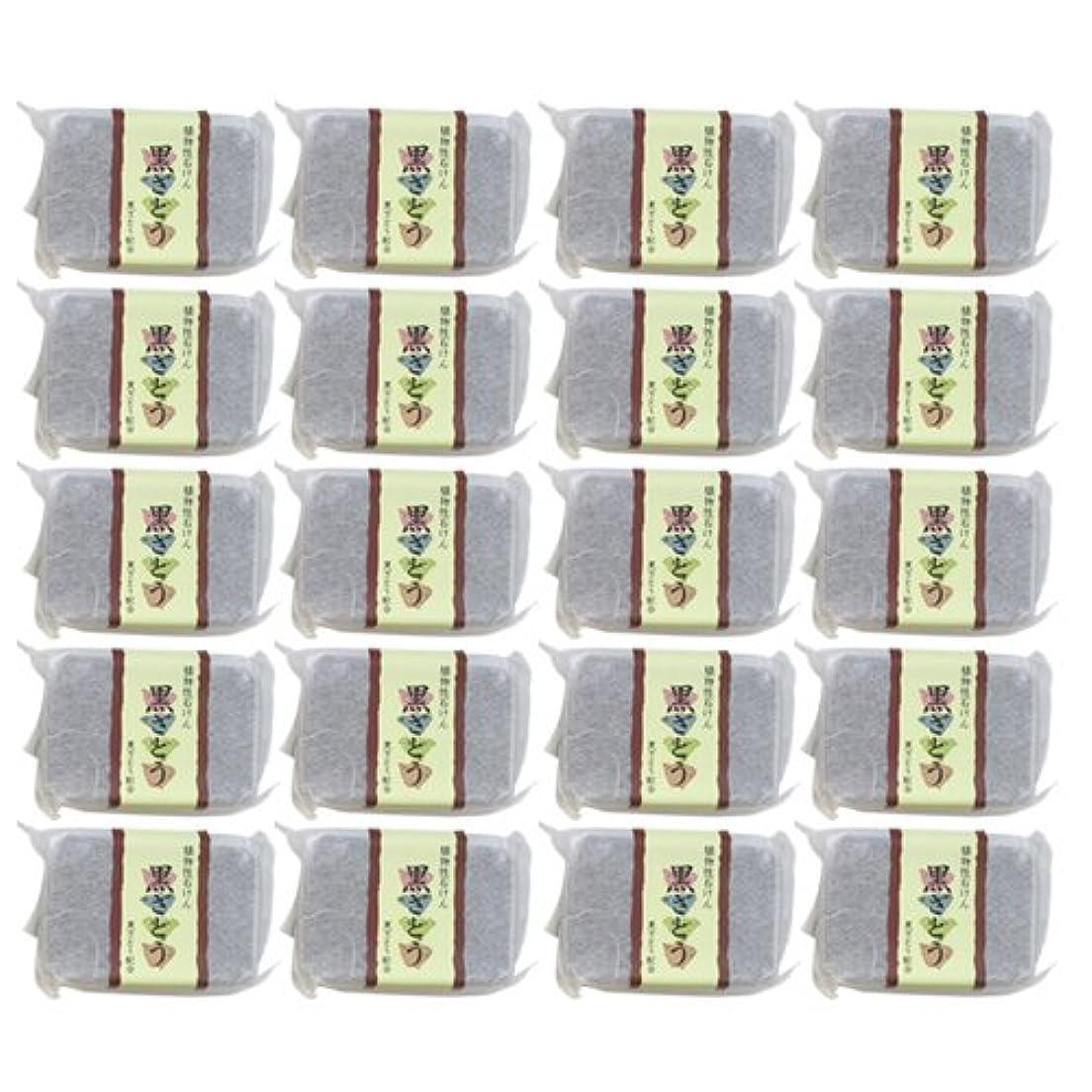 ポジティブサーバ数字植物性ソープ 自然石けん 黒ざとう 80g×20個セット