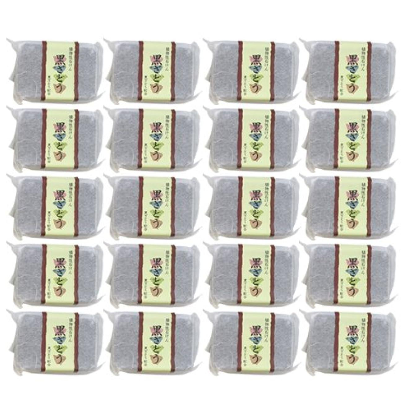 オリエンテーション毎回発表植物性ソープ 自然石けん 黒ざとう 80g×20個セット