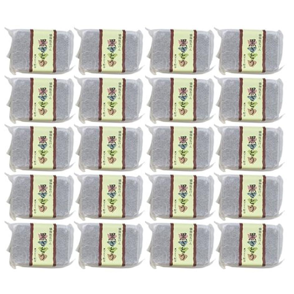 植物性ソープ 自然石けん 黒ざとう 80g×20個セット