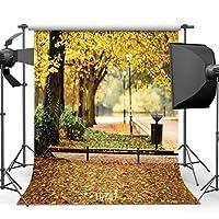 GooEoo秋の風景10 x 10フィートビニール写真背景木と秋の葉写真背景スタジオ小道具10747