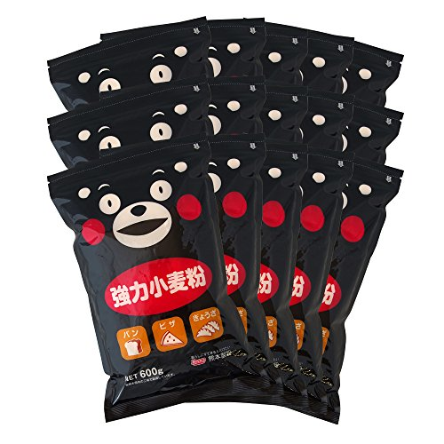【 強力粉 】 くまモン の 強力小麦粉 9kg(600g×15袋セット) 熊本製粉 製造 小麦粉