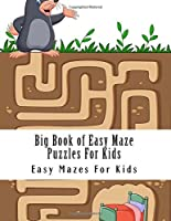 Big Book of Easy Maze Puzzles For Kids: Large Print Big Book of Mazes for Kids Ages 4-8 (Maze Puzzles Activity Book For Children) [並行輸入品]