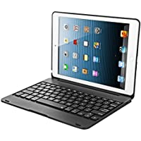 iPad 9.7 2017/2018/iPad Pro 9.7/iPad Air/iPad Air2/通用キーボード オートスリープ スタンド機能 ワイヤレスキーボードbluetoothキーボード 保護ケース (ブラック)