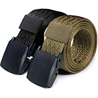 CQR Tactical Belt Assurance Nylon Webbing EDC Duty 1.5 Inches Belt (Pack of 1,2)