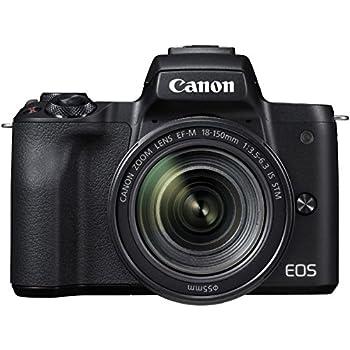 Canon ミラーレス一眼 EOS Kiss M ブラック レンズキット EF-M18-150 IS STM付属 EOSKISSMBK-18150ISSTM