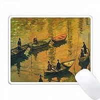 セーヌ川上のモネ絵画のプリント PC Mouse Pad パソコン マウスパッド