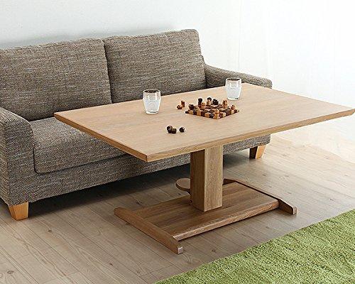 どっしりとした重厚感の ガス圧式フットペダル昇降テーブル 幅130cm ※商品はテーブルのみです