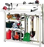 【棚 工具】ボルトを使わずに組立簡単 耐荷重200kgの 超頑丈な スチール製 農具収納棚