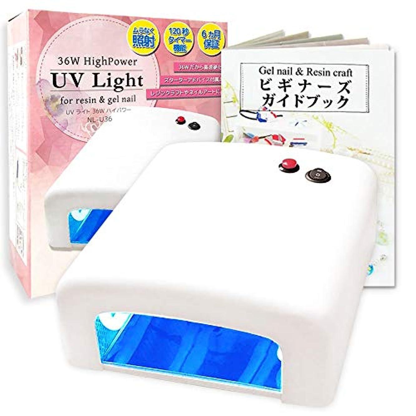 ひもピクニック湿度NAILIO 36W UVライト  初心者でもジェルネイルとレジンクラフトができるテキストセット【日本正規品6か月保証】