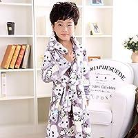 Nobrand Fashion Children's Bathrobe Autumn Winter Warm Flannel Nighgowns for Boys Cartoon Kids Robes Fleece Girls Hoode  Bathgowns