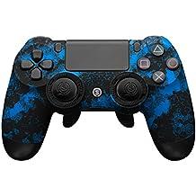 スカフ SCUF インフィニティ 4PS 迷彩 青 ブルー PS4 PC 対応 ( ミリタリーグレードグリップ / EMR機能付き / パドルトリガー機能搭載 / 凸型スティック ) [並行輸入品]