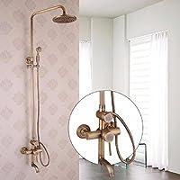 wAWzj浴室シャワーセットバスフル銅アンティークFlower SprinklerシャワーシャワーシャワーシャワーヘッドSuit 6079401640867