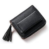 Pink&Brown ミニ財布 レディース 二つ折り 財布 カワイイ がま口 レザー コインケース付き タッセル付き ウォレットバッグ カード小銭入れ 女性 マルチカラー プレゼント対応