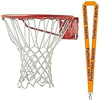 Championスポーツバスケットボールフープnet-non Whipホワイト( Set of 2 ) with 1 performall Lanyard 416 – 2p