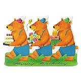 サンリオ 誕生日カード 型抜き クマ L282