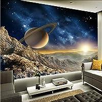Xbwy カスタム壁画壁紙3Dステレオプラネットムーン壁画レストランクラブKtvバーモダンな装飾壁紙-120X100Cm
