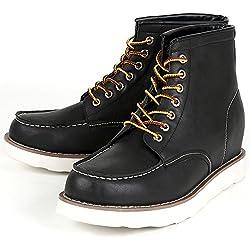 シークレット シークレットシューズ シークレットブーツ 9cmアップ メンズ 履くだけで背が高くなる靴 メンズブーツ ワークブーツ メンズシューズ インヒール kk5-500 ブラック 26.0cm