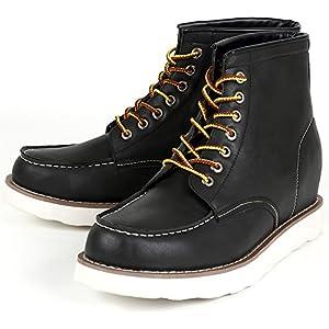 シークレット シークレットシューズ シークレットブーツ 9cmアップ メンズ 履くだけで背が高くなる靴 メンズブーツ ワークブーツ メンズシューズ インヒール kk5-500 ブラック 27.0cm