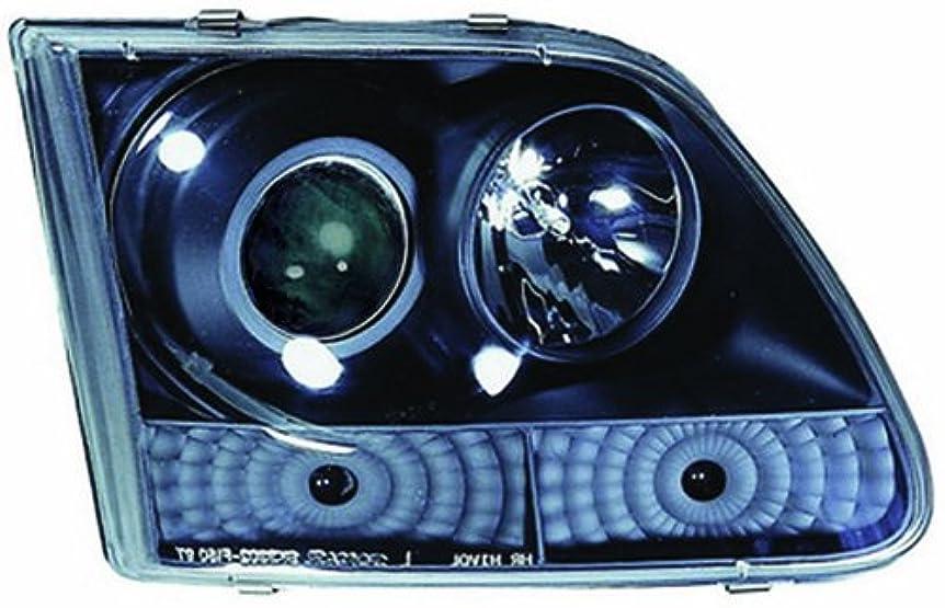 磨かれたところでなのでIPCW CWS-501B2 Ford Expedition 1997 - 2002 Head Lamps, Projector With Rings Black