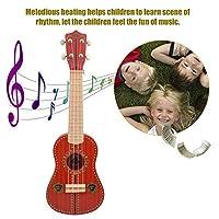 RULONG 初心者のための21インチの4弦の子供のウクレレ模倣ギターおもちゃの音楽玩具