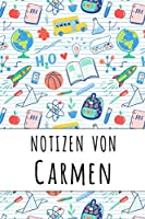 Notizen von Carmen: Liniertes Notizbuch fuer deinen personalisierten Vornamen