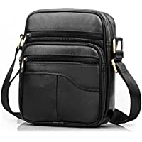 SPAHER Men Leather Handbag Shoulder Bag Satchel Business Messenger Backpack Crossbody Casual Tote Sling Travelling Bag for Wallet Purse Mobile Phone Keys