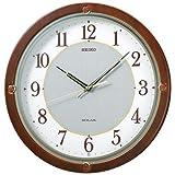 SEIKO CLOCK (セイコークロック) 掛け時計 SOLAR+(ソーラープラス) 電波 アナログ 木枠 茶木地 SF232B