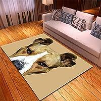 通販 ラグ 激安 ラグ 南青山大東文化 の ラグビー部121X160.0CM漫画動物犬象カーペット寝室ダイニングマットリビングルームヨーロピアンスタイル古典長方形ポリエステル