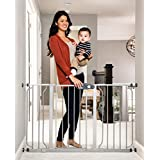 Regalo Easy Step 51-Inch Extra Wide Baby Gate, Includes 6-Inch and 12-Inch Extension Kit, 4 Pack of Pressure Mount Kit and 4 Pack of Wall Mount Kit, Platinum