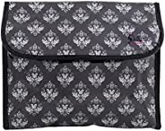Dillys Collections Hanging Flip Toiletry Cosmetic Bag Damask