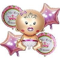 5pcs/lotベビーシャワーホイルバルーン誕生日パーティーの装飾エアボールガール誕生日バルーンヘリウムバルーンパーティーSupplies
