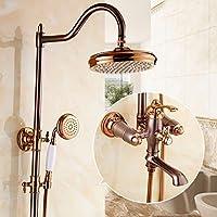 LJ すべてのブロンズヨーロッパスタイルのシャワーはゴールドシャワーセットバスシャワーをローズ (サイズ さいず : B)