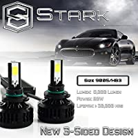Stark APX 90W 9600LM 3-Sided LED Light 6000K White High Power Kit Headlight/High Beam Bulbs 3 Year Warranty - 9005/HB3 [並行輸入品]