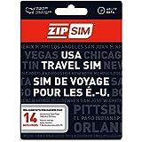 ZIP SIM 通話+SMS+データ通信1GB、14日間 アメリカ用プリペイドSIM (※旧名称 READY SIM 2016年4月より商品名・パッケージが変更となりました)
