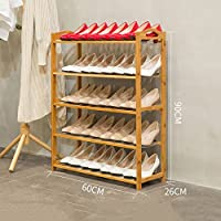 シューズラック- 棚南十の靴のラック多層の固体の木製の靴のキャビネットの靴のラックシンプルな家庭のリビングルームの靴を組み立てた (色 : A)