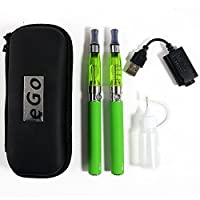Biliboo CE4+ego 1100mah 電子タバコ 初心者向け 禁煙セット充電可能 サイズ小さい 持ち運び簡単 2つセット アトマイザーなど 個別購入可能(グリーン)