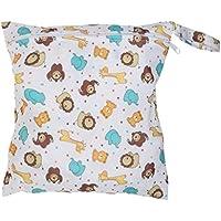 SONONIA 防水 再利用可能 赤ちゃん ジッパー おむつ袋 ウェット ドライ 水泳 トラベル トート バッグ 収納バッグ 全11色 選べる - #8