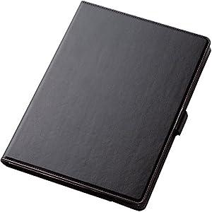 エレコム 2017年新型 iPad Pro 10.5 フラップカバー ソフトレザー 360度回転 スタンド ブラック TB-A17360BK