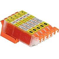 EPSON エプソン ICY70L イエロー 単品5個セット ep805a 互換インクカートリッジ 大容量 ICチップ(残量表示機能)付き