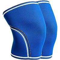 ZSZBACE膝保護具、スポーツ用膝パッド、温かい包帯、走るための滑り止め、運動、関節痛、関節炎および傷害の回復 (ブルー, M)